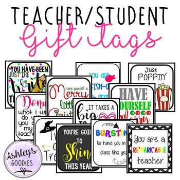 Gift Tags for Teachers and Students