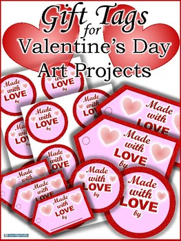 Gift Tags for Valentine's Day Art Projects