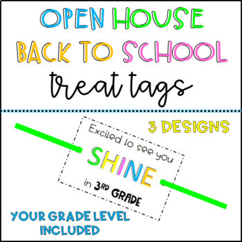 Gift/Treat Tags- Open House/Back to School