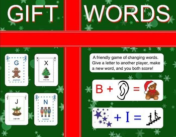 Gift Words - Christmas spelling game
