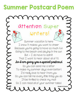 Year Round Student Gift Tag Poem Set
