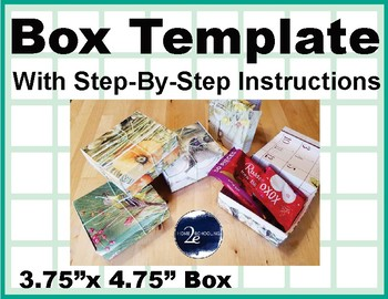 Gift box Template with step-by-step instructions