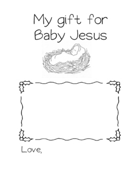 Gift for Baby Jesus Worksheet