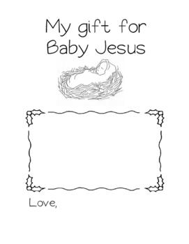 Gift for Baby Jesus Worksheet