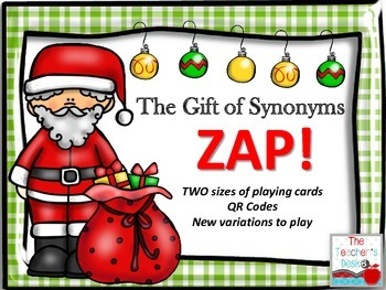 Gift of Synonyms ZAP TWO Sizes, QR Codes, NEW Variations for Play