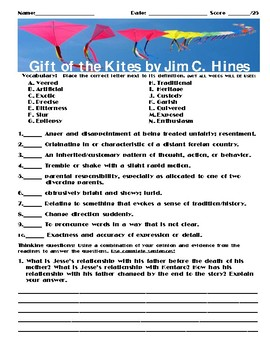 Gift of the Kites by Jim C Hines Assignment
