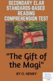 Gift of the Magi Reading Test/Quiz 6th, 7th, 8th  Grade