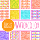 Gift or Present Watercolor Digital Paper Backgrounds for Christmas or Birthdays