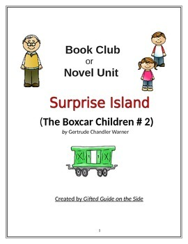 Gifted Book Club or Novel Unit:  Surprise Island (The Boxcar Children # 2)