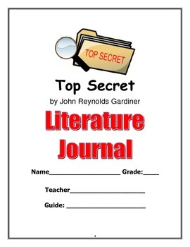 Gifted Book Club or Novel Unit: Top Secret by John Gardiner