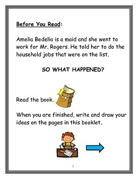 Gifted Book Unit: Amelia Bedelia