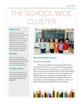 Gifted Cluster Information Letter