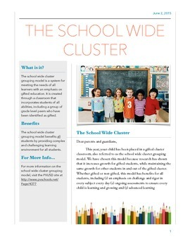 Gifted Cluster Information Letter