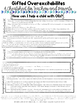 Gifted Education Cheat Sheet- Gifted Overexcitabilities Ti