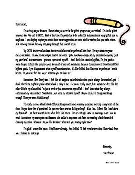 Gifted Education Introduction- Letter from a Gifted Student to a Gifted Student