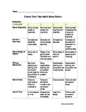 Gifted Education Math Game Design Project Rubric