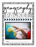 NO PREP Gifted Geography and Map Skills Packet