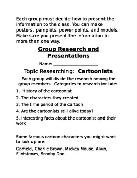 Gifted Group Research Project