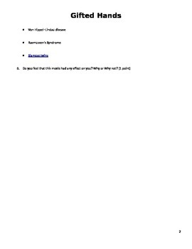 Gifted Hands - Student worksheet
