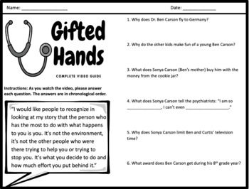 Gifted Hands The Ben Carson Story Complete Movie Guide By William