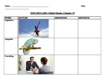 Gifted Hands Vocabulary Ch. 17