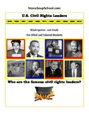 """K- 2: """"U.S. Civil Rights Leaders""""  for Gifted/Talented Students"""