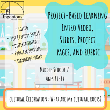 Gifted Project-Based Learning: What Are MY Cultural Roots? Project #8