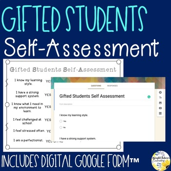 Gifted Students Self-Assessment