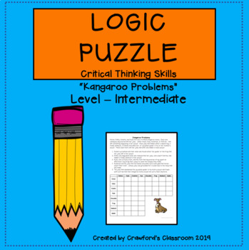 Gifted & Talented-Critical Thinking Logic Puzzle - Kangaroo Problems