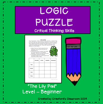 Gifted & Talented-Critical Thinking Logic Puzzle - The Lily Pad