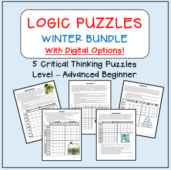 Gifted & Talented - Critical Thinking Logic Puzzles/Brain Teasers Winter Bundle