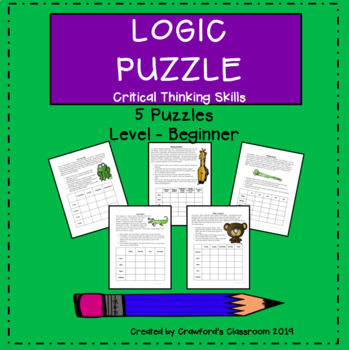Gifted & Talented - Critical Thinking Logic Puzzles Bundle #2 - Beginner Level