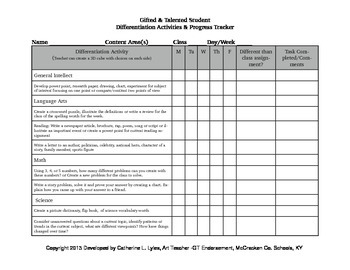 Gifted & Talented Student Tracker