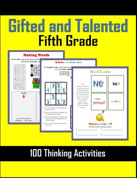 Gifted and Talented Activities - Fifth Grade