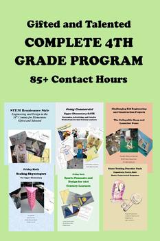 Gifted and Talented COMPLETE 4TH GRADE PROGRAM 85+ Contact Hours!