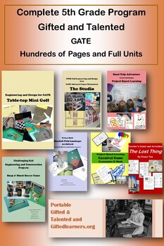 Gifted and Talented COMPLETE 5TH GRADE PROGRAM - 70+ Conta