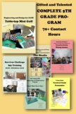 Gifted and Talented COMPLETE 5TH GRADE PROGRAM 70+ Contact