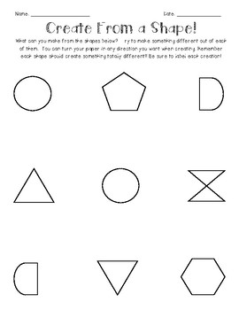 Freebie: Gifted and Talented - Creative Thinking: Create From a Shape
