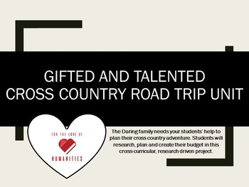 Gifted and Talented- Cross Country Road Trip Unit