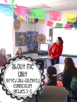 All About Me Unit - Common Core Aligned NO PREP Third Fourth Fifth Grade