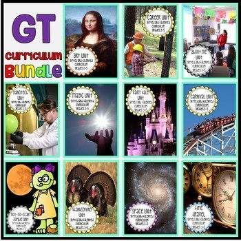 Gifted and Talented Curriculum BUNDLE - Third, Fourth, and Fifth Grade