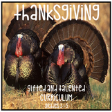 Distance Learning Gifted and Talented Curriculum Thanksgiving Unit Grades 3 4 5