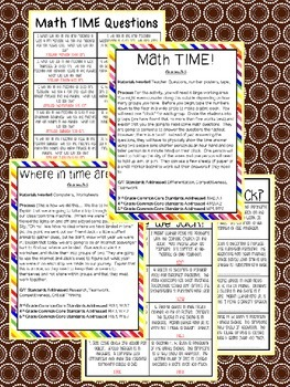 Gifted and Talented Curriculum - Time Travel Unit Third Fourth Fifth