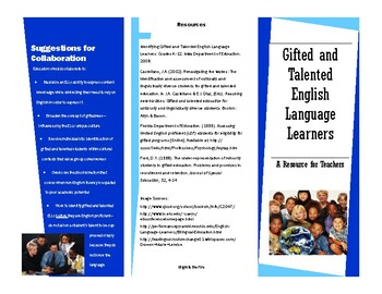 Gifted and Talented English Language Learners - A Resource for Teachers