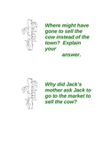 Gifted and Talented (HOTS) Jack and the Beanstalk Activity Cards