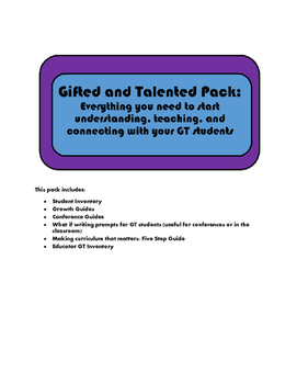 Gifted and Talented Pack