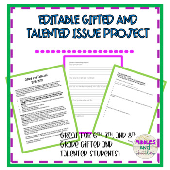 Gifted and Talented Issue Project