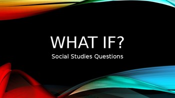Gifted and Talented Social Studies Questions Powerpoint