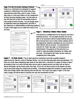 Gifted and Talented Unit - Research & Design Your Own Fantasy World
