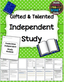 Gifted and Talented - Independent Study (Editable)